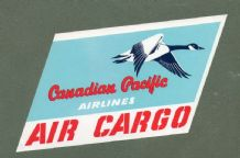 Airline luggage label Baggage Label Canadian Pacific #095
